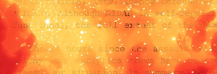 """Illuminae"" by Aimee Kaufman and Jay Kristoff"