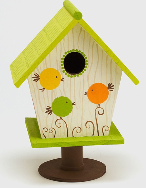 Painted Wooden Bird House