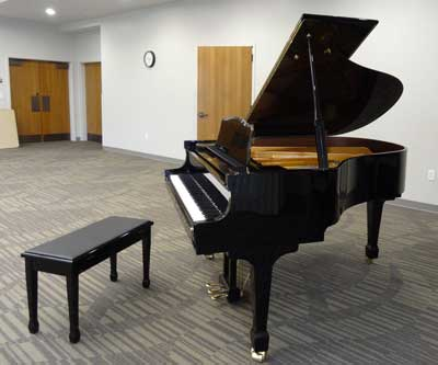 Piano in the Community Room