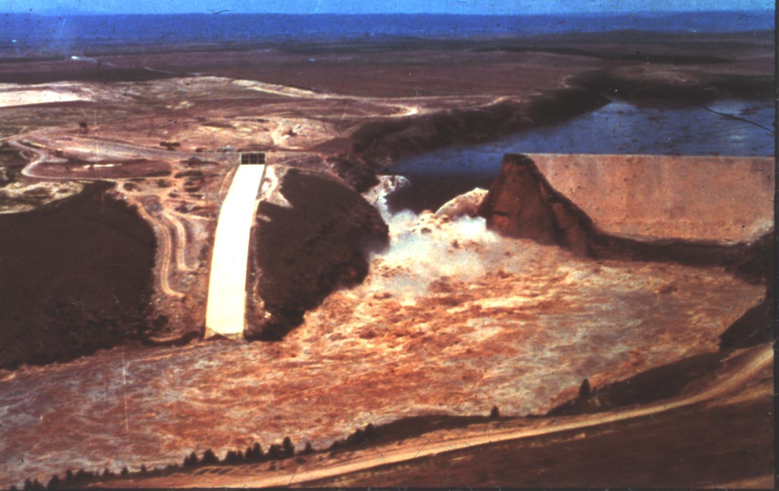 Teton Dam Collapses