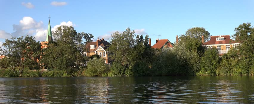 The View of Staines, Middlesex, Surrey, from the River Thames