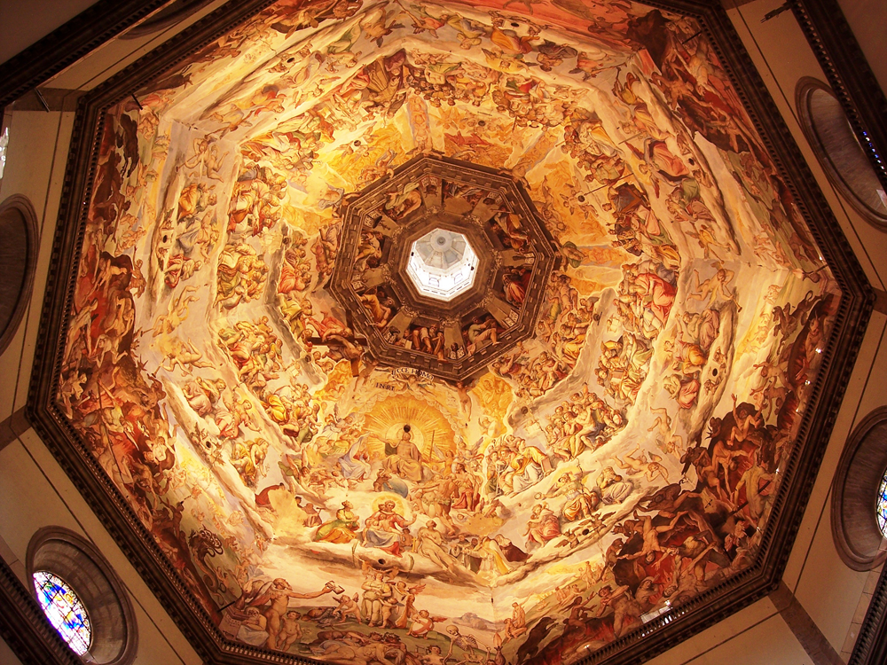 Interior of the Dome of the Cathedral of Santa Maria del Fiore in Florence