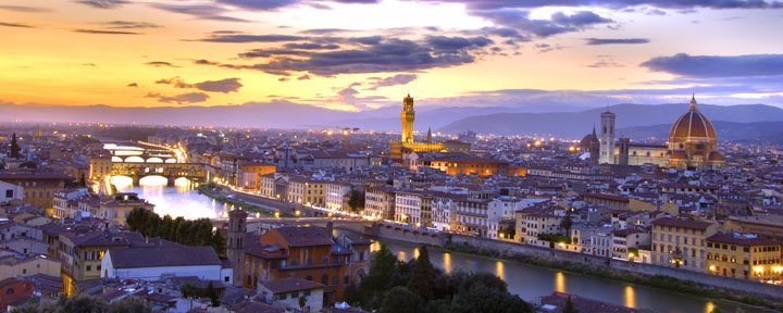 Florence, Italy, at Night