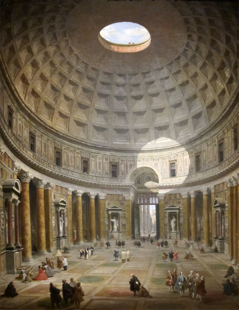 Interior of the Pantheon by Giovanni Paolo Panini