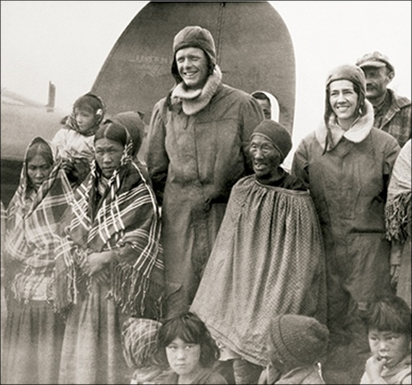 Charles and Anne Morrow Lindbergh in the Andes