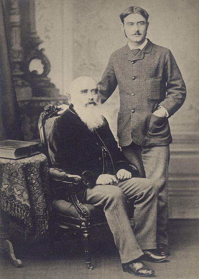 Rudyard with his father, John Lockwood Kipling