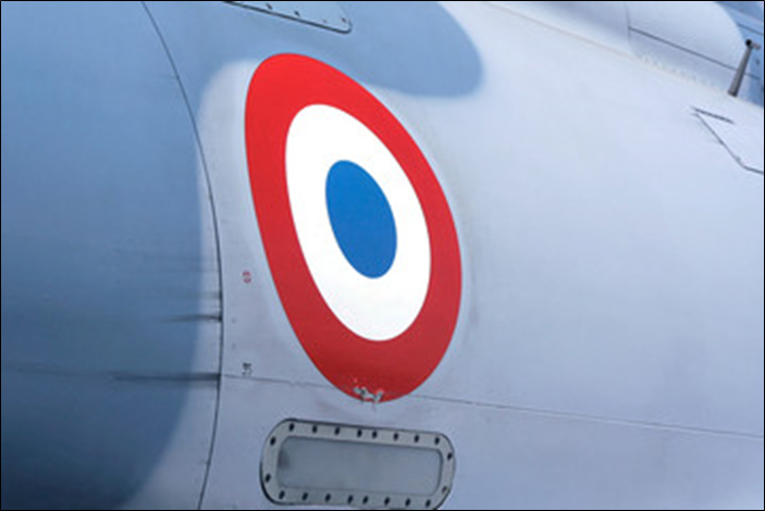 French Air Force Plane with Cockade Insignia