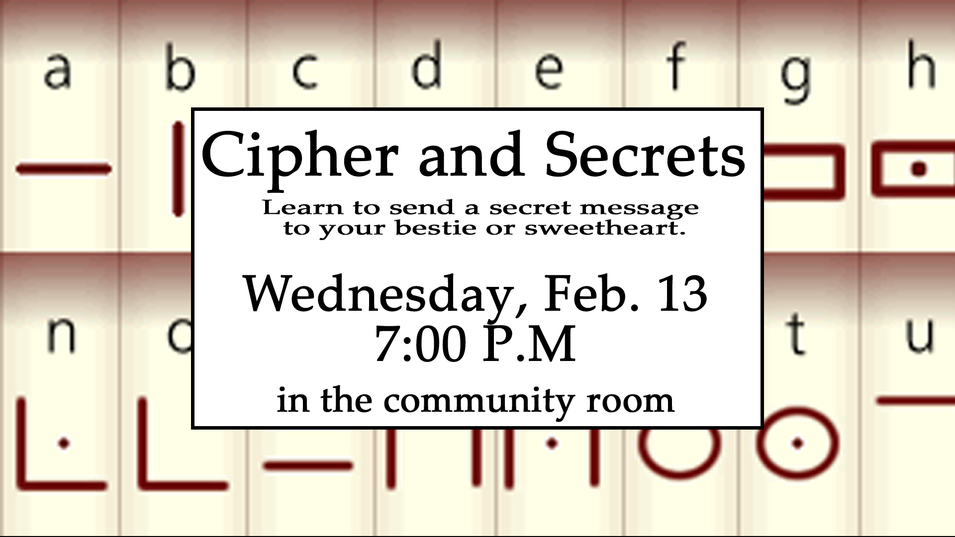 Ciphers and Secrets