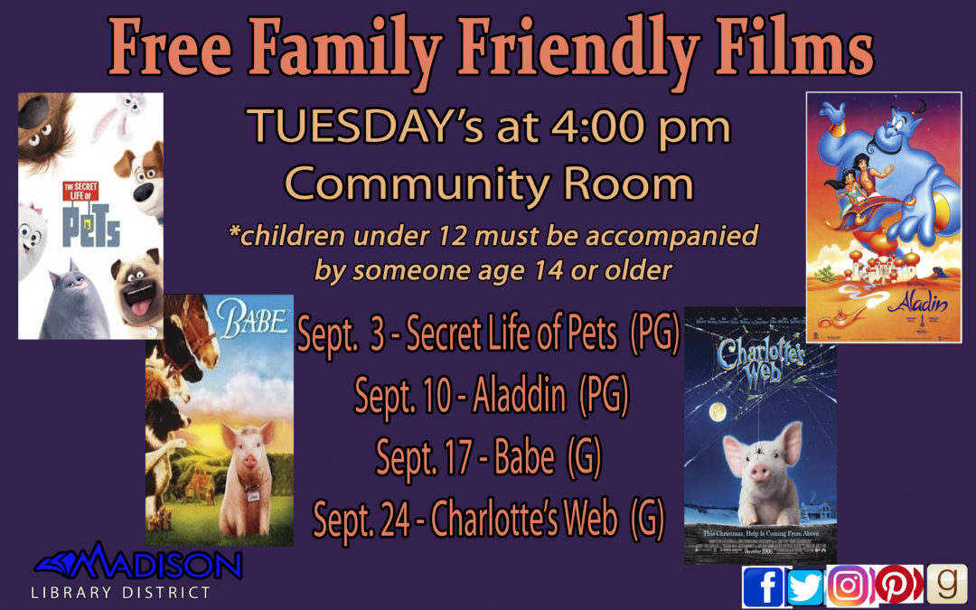 September Free Family Friendly Films