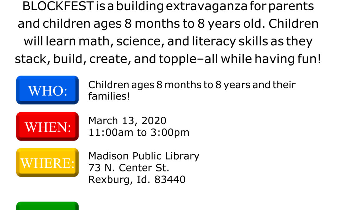 BLOCK FEST AT THE LIBRARY!