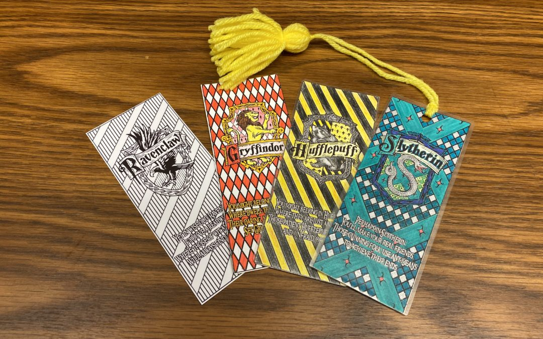 Teen Summer Crafts – Harry Potter Bookmarks