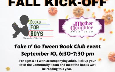 Upcoming Tween Book Club Kick-Off