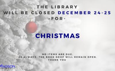 Closed December 24-26th
