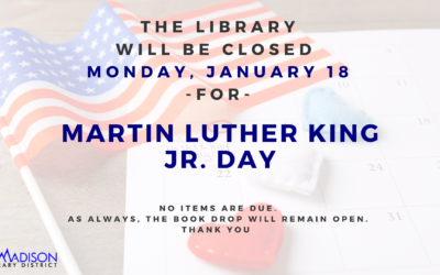 Closed for Martin Luther King Jr. Day