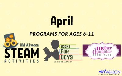 April Kid and Tween Activities