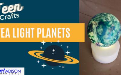 Teen Craft: Tea Light Planets
