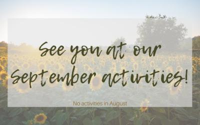 AUGUST Adult Activities