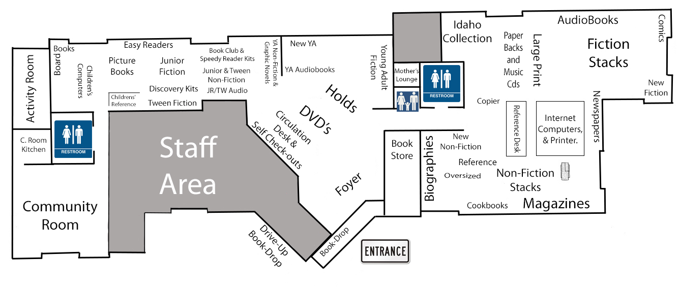 Floor Plan of the Library