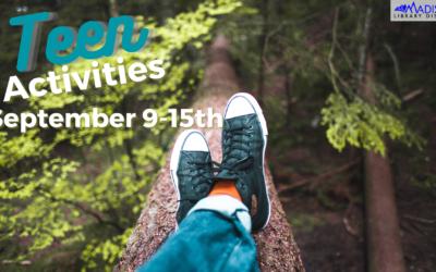 SEPTEMBER 09 – 15th Teen Activities