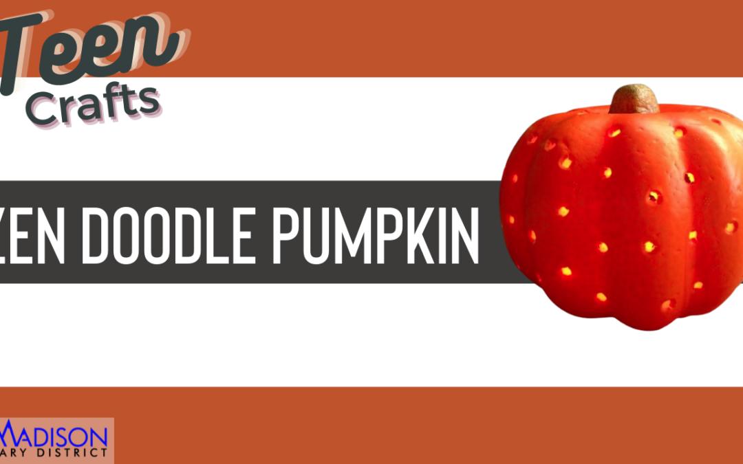 Teen Craft: Zen Doodle Pumpkin